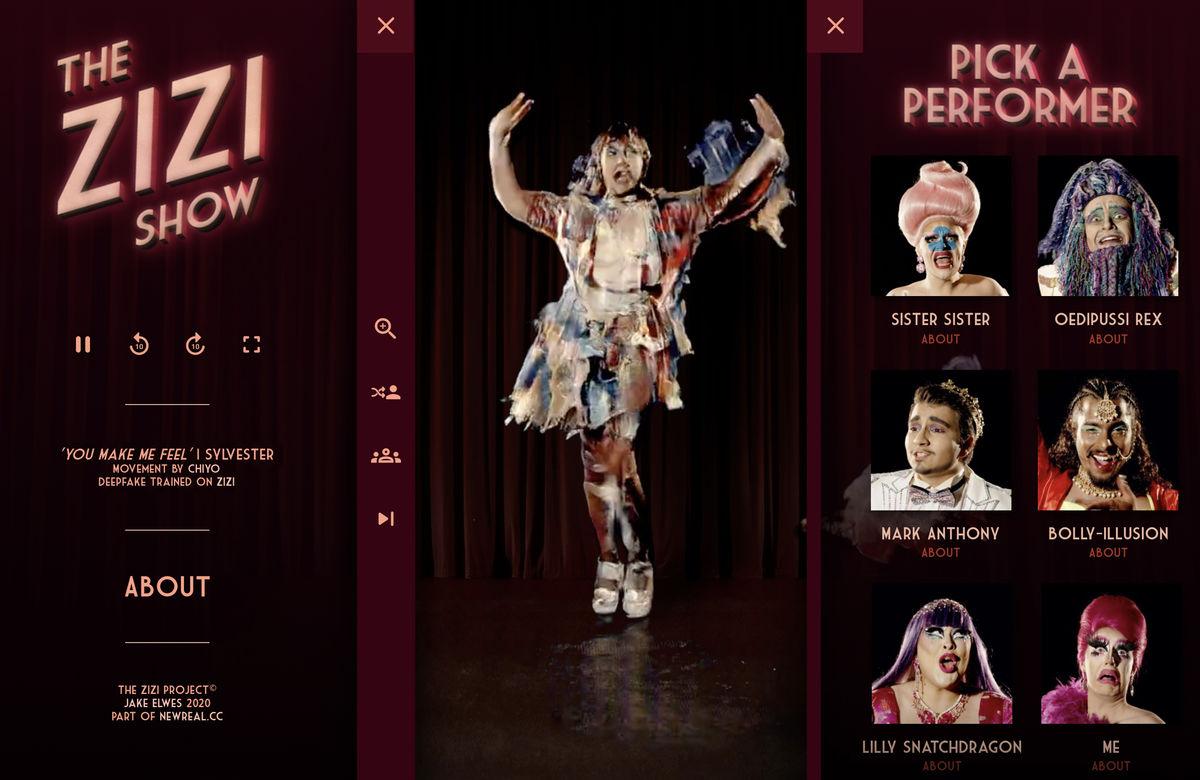 Cropped The Zizi Show 2021 Still Of Zizi Ai Pick A Performer C O The Artist